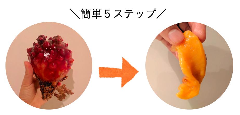 食べ 方 ほや